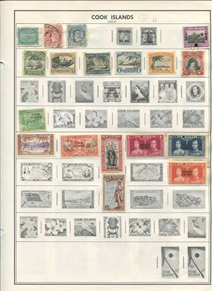 Picture of COOK ISLANDS ON ALBUM PAGES 1902 TO 1981!