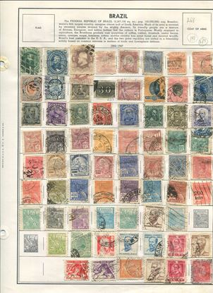 Picture of BRAZIL ON ALBUM PAGES 1866 TO 1988!