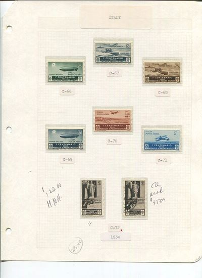 Picture of ITALY ON ALBUM PAGES 1932 TO 1934!