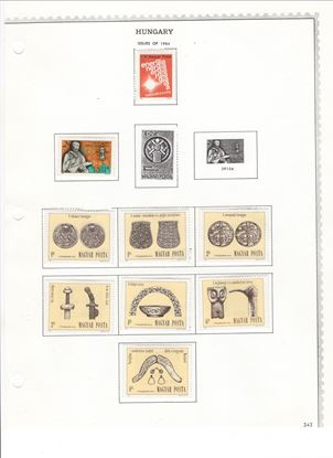 Picture of MODERN HUNGARY ON ALBUM PAGES-1984-1989-MOSTLY MH!