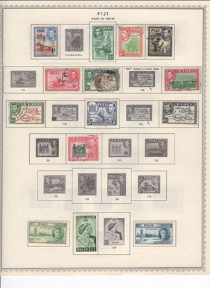 Picture of FIJI ON ALBUM PAGES 1871 TO 1965!
