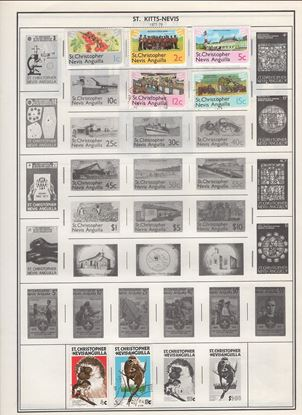 Picture of ST. KITTS/PITCAIRN ISLANDS ON ALBUM PAGES 1965 TO 1987!
