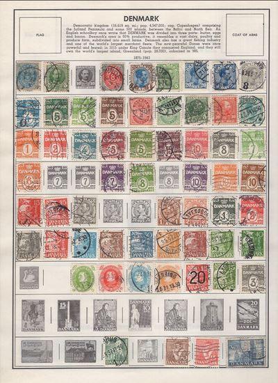 Picture of DANZIG/DENMARK/DOMINICAN REPUBLIC/DUBAI ON ALBUM PAGES 1875 TO 1965!