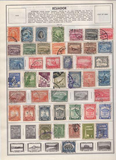 Picture of ECUADOR/EGYPT/ETHIOPIA ON HARRIS ALBUM PAGES 1879 TO 1959!
