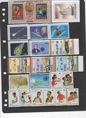 Picture of MNH NEW ISSUE ASSORTMENT ON 15 STOCK PAGES-LOTS OF BRITISH!