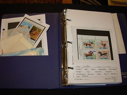 Picture of VERY NICE MOSTLY NH HORSES ON STAMPS DEALER STOCK IN COUNTER BOOK!