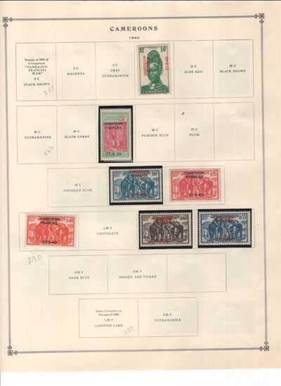 Picture of CAMEROONS ON ALBUM PAGES