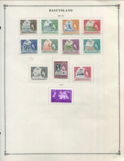 Picture of BASUTOLAND ON ALBUM PAGES 1945 TO 1966!