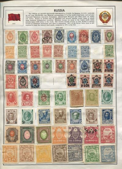 Picture of RUSSIA ON ALBUM PAGES 1875 TO 2003-MASSIVE GROUP 100S!