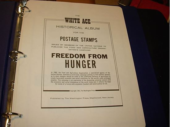 Picture of FREEDOM FROM HUNGER COLLECTION ON WHITE ACE PAGES-1960!