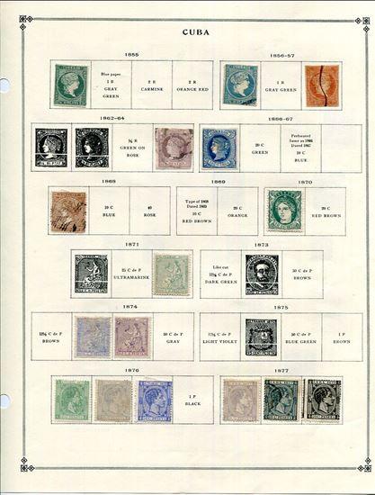 Picture of CUBA ON SCOTT ALBUM PAGES-1855-1960!