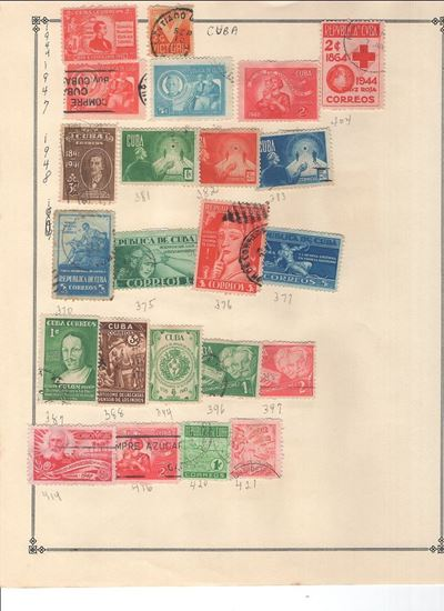 Picture of CUBA ON SCOTT ALBUM PAGES-1949-1955!
